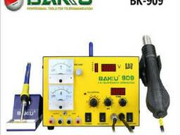 Паяльная станция Bakku BK-909 цифровая индикация, паяльник + фен, с встроен. БП 0-15В. ..