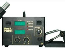 Паяльная станция Bakku BK852D+ компрессорная, цифровая индикация, фен, паяльник. ..