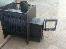 Печь на дровах для бани ПБ-600(35) «каминный портал»