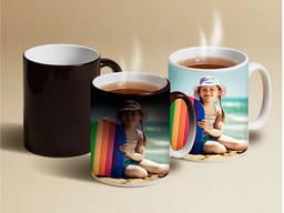 Печать на чашках со сменой цвета (хамелеон)