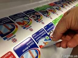 Печать наклеек с плоттерной подрезкой(порезкой по контуру)