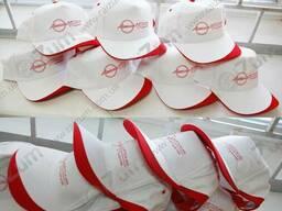 Печать текста картинки логотипа на кепках