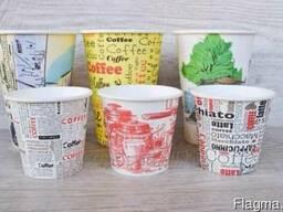 Печать заготовок для бумажных стаканчиков