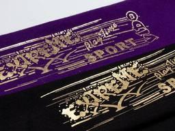 Печать золотом, серебром на ткани — заказать в типографии. ..