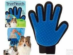 Перчатка для Вычесывания Шерти домашних животных True Touch Glove