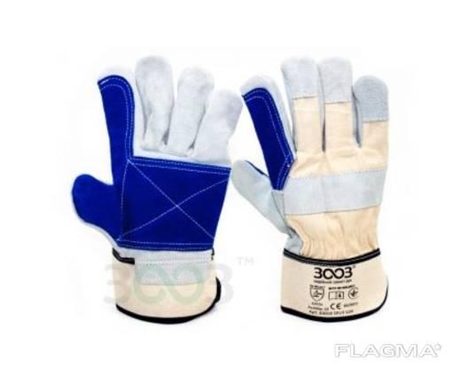 Перчатка SPLIT LUX комбинированные хлопок/спилок усиленные