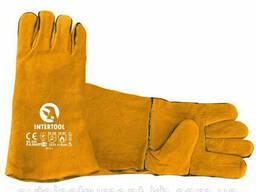 "Перчатка замшевая 14"" Intertool SP-0157"