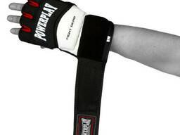 Перчатки для MMA PowerPlay 3075 Черные-Белые XL