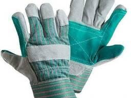 Перчатки «Докер» спилковые, комбинированый, усиленные