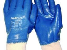 Перчатки х/б нитриловым покрытием, вязаный манжет