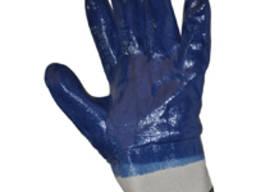 Перчатки х/б, покр. нитрилом к 054 (полн. покр. , тв. манж)