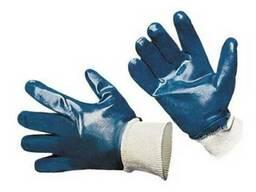 Перчатки х/б, покрытые нитрилом.