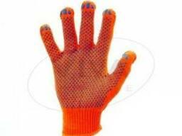 Перчатки ХБ 8312 оранжевые