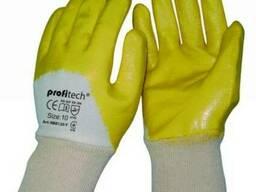 Перчатки ХБ покрытые нитрилом Profitech NBR1260