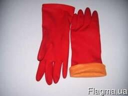 Перчатки хозяйственные латексные утепленные а наличии