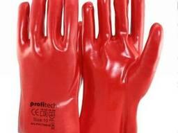 Рабочие перчатки пвх с хлопковой основой тм proitech