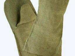 Перчатки краги брезентовые пл. 480 (огнеупорные), сварочные