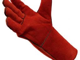 Перчатки-краги с подкладкой.