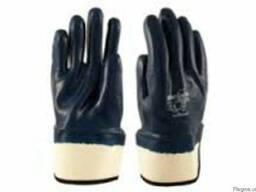 Перчатки -краги с жестким манжетом, с нитриловым покрытием