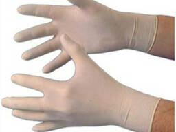Перчатки латексные тонкие нестерильные