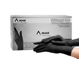 Перчатки медицинские нитриловые смотровые нестерильные неопудренные, черного цвета