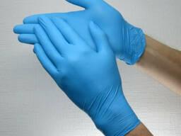 Перчатки медицинские нитриловые упаковка 100шт.