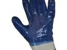 Перчатки нитриловые, перчатки х-б покрытые нитрилом