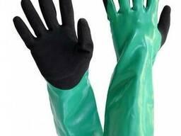 Перчатки нитриловые с применением технологии улучшенного зах