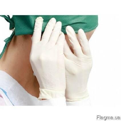 Перчатки одноразовые, латексные, медицинские