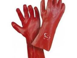 Перчатки с покрытием ПВХ 35 см