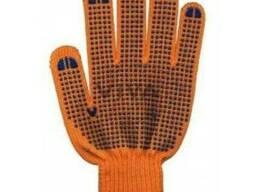 Перчатки Полиэстер с ПВХ 9412, 6 нитей.