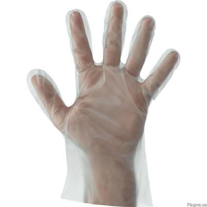 Перчатки полиэтиленовые одноразовые оптом (100 шт. /уп)