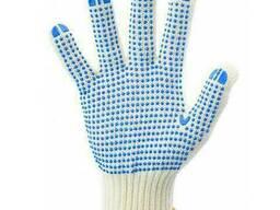 Перчатки рабочие 6 нитей c ПВХ - точкой