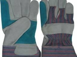 Перчатки рабочие из толстого спилка с усиленным наладонником