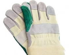Перчатки рабочие комбинированные мод. MAGPIE хлопок/телячий спилок