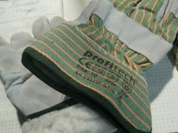 Перчатки рабочие комбинированные спилковые утепленные