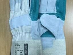Перчатки рабочие комбинированные спилковые армированные