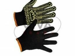 """Перчатки рабочие """"Корона"""" черные, 5611"""