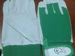 Перчатки рабочие кожа\текстиль модель Flexi, 9 размер