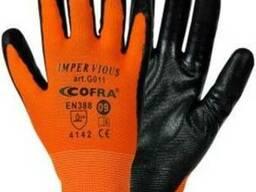 Перчатки рабочие, перчатки трикотажные с нитрил. покрытием