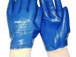 Перчатки рабочие с двойным нитриловым покрытием