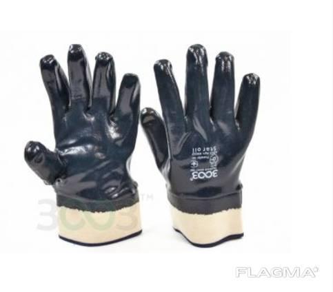 Перчатки рабочие с нитриловым покрытием, полный облив