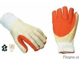 Перчатки рабочие с покрытием из нитрильного каучука,сверхпр.