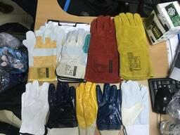 Перчатки рабочие спилковые, трикотажные, комбинированные