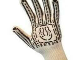 Перчатки рабочие уплотненные с ПВХ-точкой 7 нитей