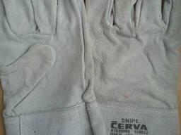 Перчатки с крагами сварщика