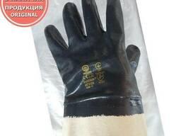 Перчатки с нитриловым покрытием, манжет крага
