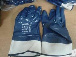 Перчатки с нитриловым покрытием, жесткий манжет
