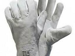 Перчатки серые спилковые