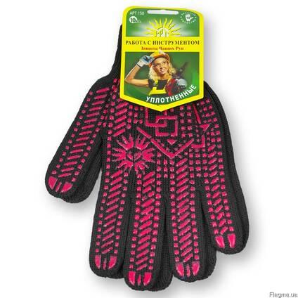Перчатки синтетические, 10 класс - уплотненные